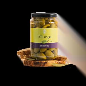 Olives Lucques vertes du Domaine L'Oulivie. Reine des olives.